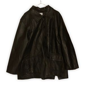 Real Comfort 100% Leather Button Down Jacket 2XWP